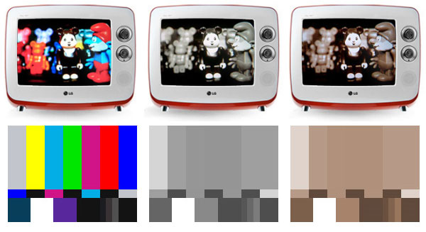 lg retro serie tv color modes