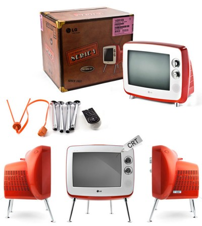 lg serie 1 retro crt tv